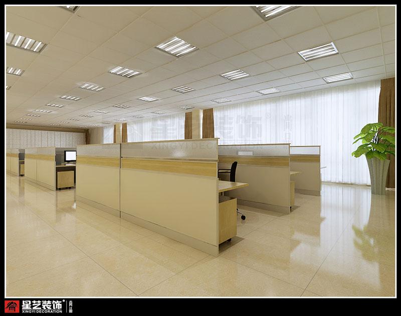 劲达兴纸业办公大楼员工办公室设计效果