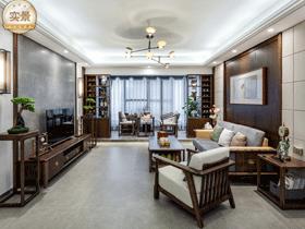 桂西公路局宿舍150平新中式客厅新利18全站完工实景